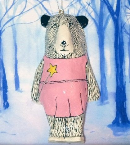 Mabel Bear Christmas Tree Decoration, Jimbobart