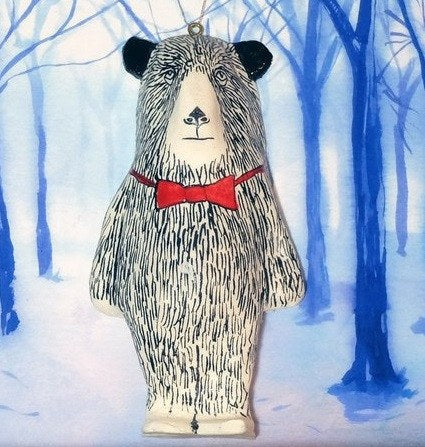 Walter Bear Christmas Tree Decoration, Jimbobart