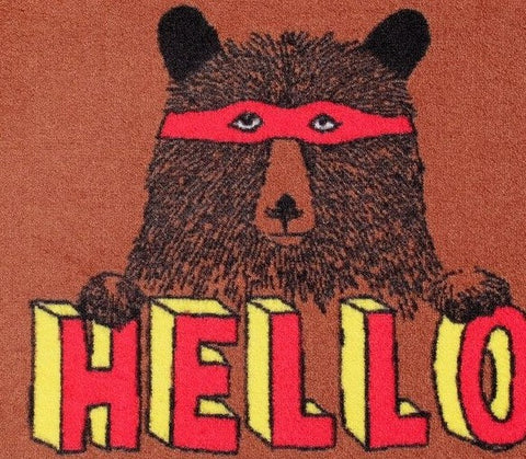 Hello Bear Welcome Doormat, Jimbobart