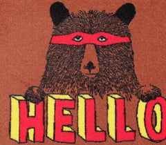 Hello Bear Welcome Doormat, Jimbobart Alternate View