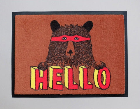 Hello Bear Welcome Doormat, Jimbobart - CultureLabel - 1