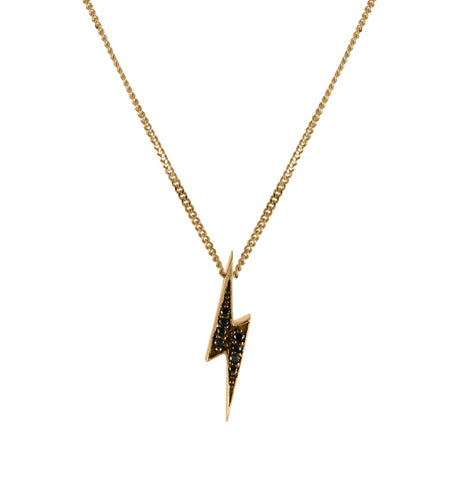 Black Diamond Lightning Bolt Necklace, No 13 - CultureLabel - 1