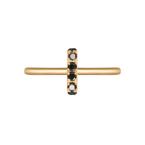 Black Diamonds Bar Ring, Lee Renée
