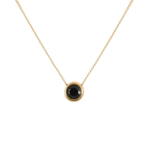 Black Spinnel Brilliant Cut Necklace, Lee Renée