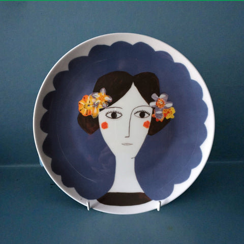Blue Flower Plate, Katy Leigh - CultureLabel - 1