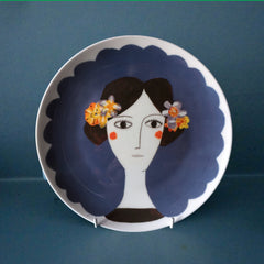 Blue Flower Plate, Katy Leigh