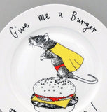Give Me A Burger Side Plate, Jimbobart - CultureLabel - 2