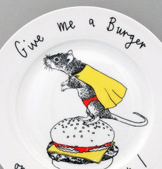 Give Me A Burger Side Plate, Jimbobart Alternate View