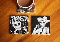 His and Her Coaster Set, Juan is Dead Alternate View