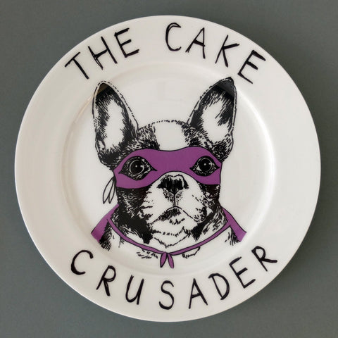 The Cake Crusader Side Plate, Jimbobart - CultureLabel