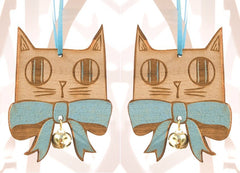 Bow Tie Cat Pair, Small Stories