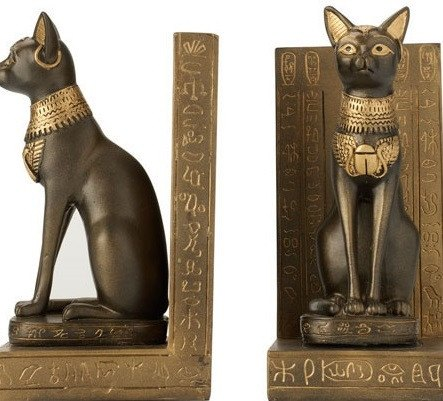 Egyptian Cat Bookends, The British Museum Alternate View