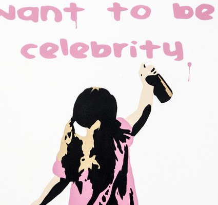 I Want to be a Celebrity - Canvas, Plastic Jesus