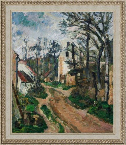 Road at Auvers-Sur-Oise by Paul Cezanne 3d Reproduction, Versus Art