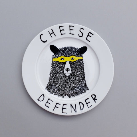 Cheese Defender Side Plate, Jimbobart - CultureLabel