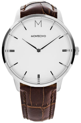Classic Brown Leather Watch, Montecivo Watches - CultureLabel - 1