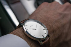 Classic Brown Leather Watch, Montecivo Watches Alternate View