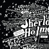 Literary Central London (Black), Run For The Hills - CultureLabel - 4 (close up 'Sherlock Holmes)