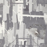 London Skyline Silk Scarf, The British Museum - CultureLabel - 2 (detail- scarf folded)