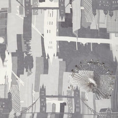 London Skyline Silk Scarf, The British Museum Alternate View