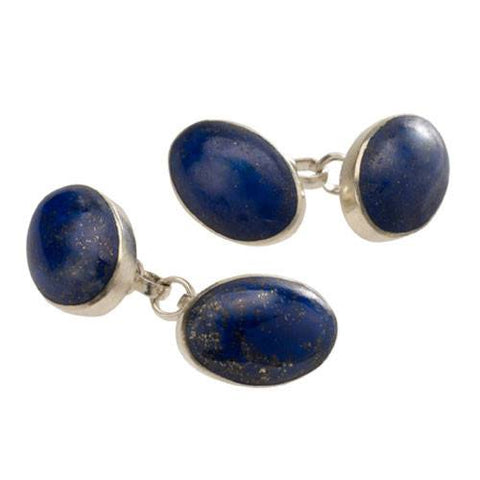 Oval Lapis Cufflinks, The British Museum - CultureLabel (pair)