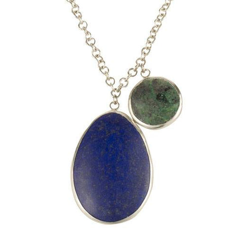 Lapis and Chrysocolla Silver Necklace, The British Museum Alternate View