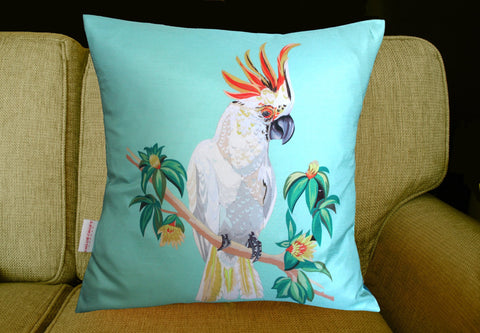 Cockatoo Cushion, Chloe Croft Alternate View