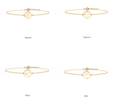 Zodiac Constellation Bracelet - Silver, Gold & Diamonds, No 13