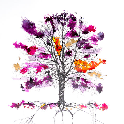 Copper Beech Web Purple and Pink, Rob Wass