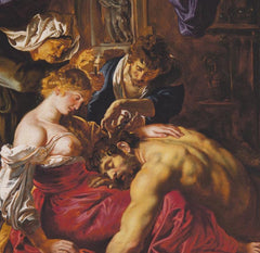 Samson and Delilah Silk Pocket Square, The National Gallery Alternate View