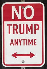 No Trump Anytime - Framed Sign, Plastic Jesus Alternate View
