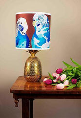 Blue Budgies Lampshade, Chloe Croft Alternate View