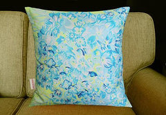 Hydrangea Lime Cushion, Chloe Croft Alternate View