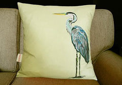Lemon Heron Charity Cushion, Chloe Croft Alternate View