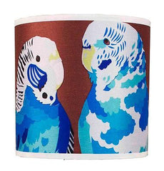 Blue Budgies Lampshade, Chloe Croft