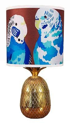 Blue Budgies Lampshade, Chloe Croft - CultureLabel