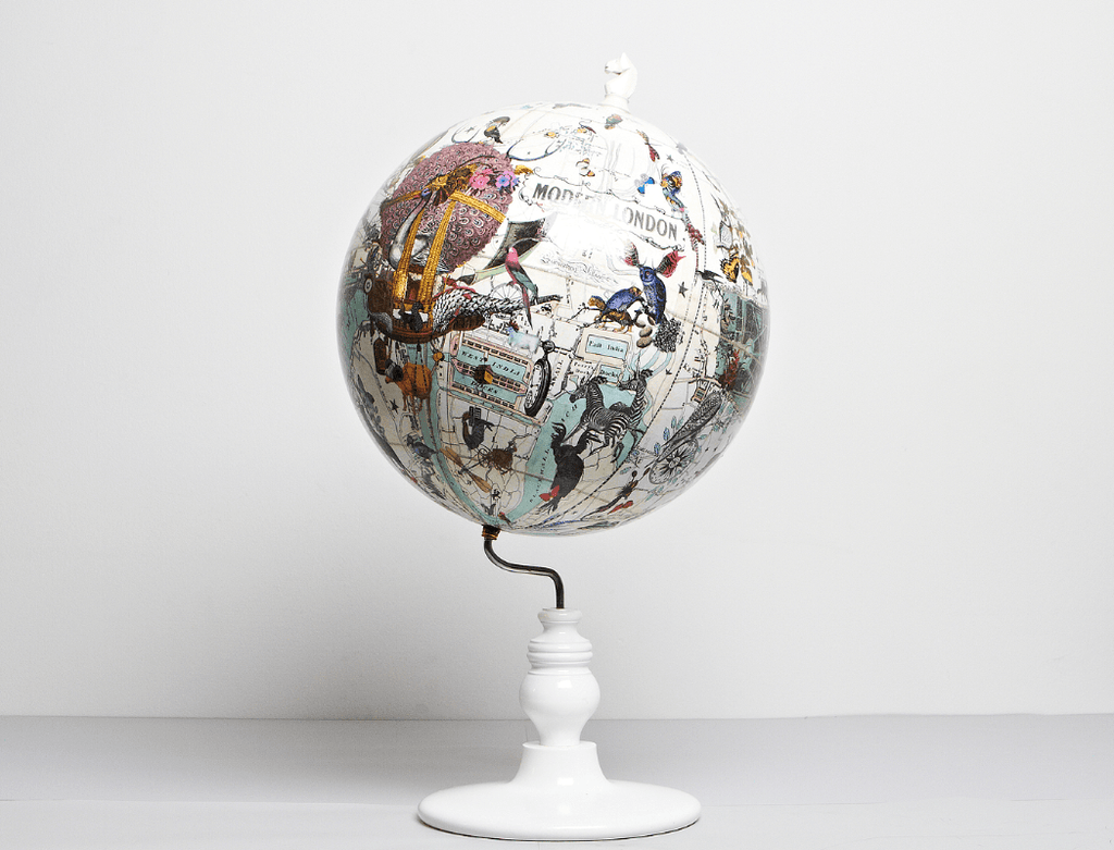 East Meets West Lundunar Kort Globe, Kristjana S Williams - CultureLabel - 1