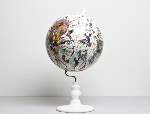 East Meets West Lundunar Kort Globe, Kristjana S Williams