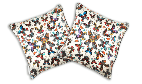 Butterfly Kaleidoscope Silk Cushion Cover, Kristjana S Williams Alternate View