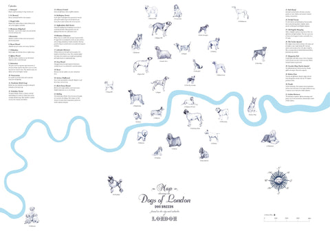 Dogs of London Map, Anna Walsh - CultureLabel