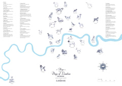Dogs of London Map, Anna Walsh