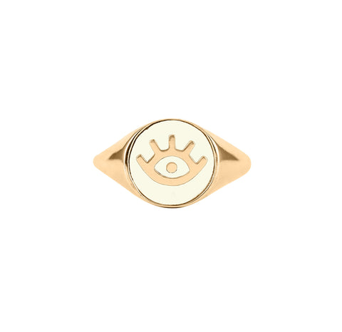 Evil Eye Signet Ring, Lee Renée