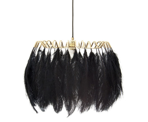 Feather Pendant Lamp Black - CultureLabel - 1