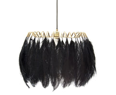 Feather Pendant Lamp Black