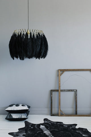 Feather Pendant Lamp Black Alternate View