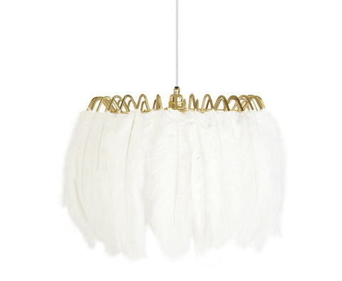 Feather Pendant Lamp White - CultureLabel