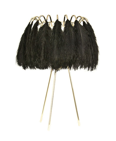Feather Table Lamp Black