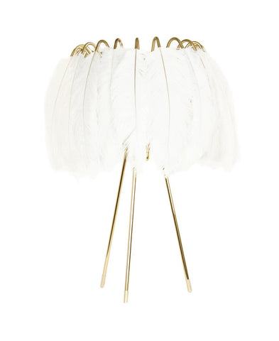Feather Table Lamp White - CultureLabel