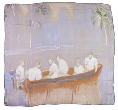 Figures in Red Boat Silk Scarf, Peter Doig Alternate View