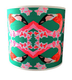 Flamingos and Flowers Abstract Lampshade, Chloe Croft - CultureLabel